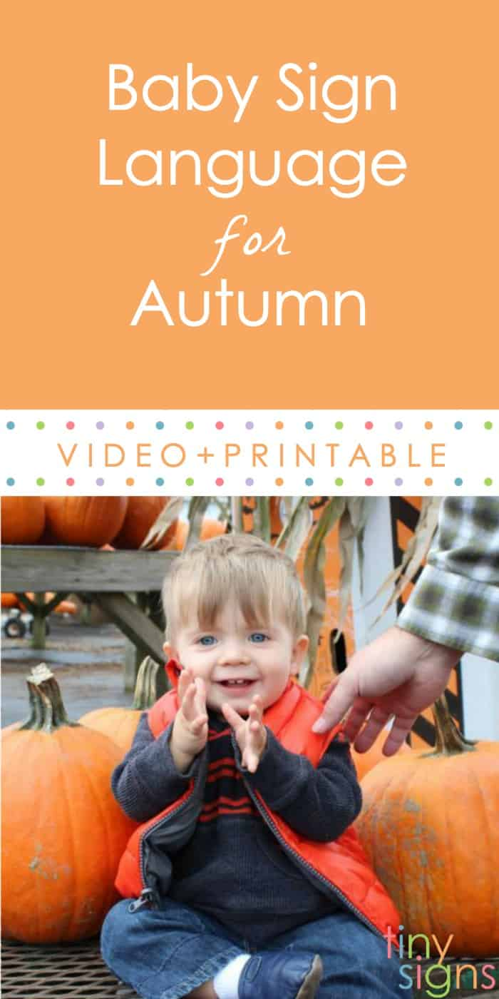 Baby Sign Language for Fall