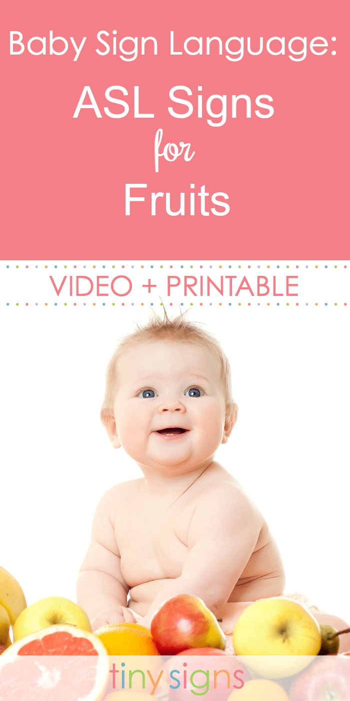 How do you sign APPLE in sign language? Or BANANA? Or even PINEAPPLE?? Learn the signs for 9 delicious fruits in ASL with this free video tutorial and printable guide.