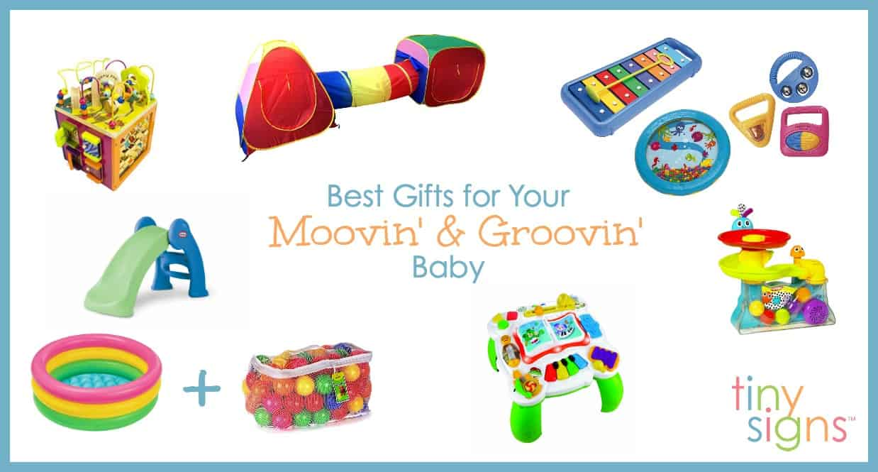 To help you with your holiday shopping, I'm sharing my absolute favorite gift ideas for busy babies. These toys will work for a wide variety of ages, but when making this list I had babies in the 8-18 month old range in mind.
