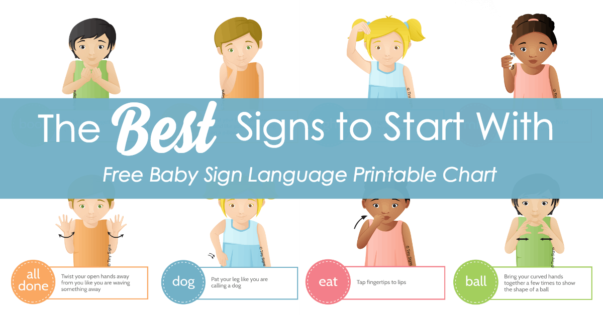 graphic regarding Printable Sign Language Chart referred to as little one indicator language excellent signs and symptoms toward begin with