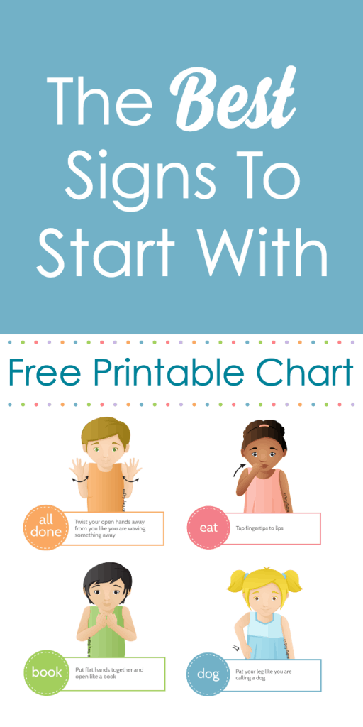 graphic about Baby Sign Language Printable named kid indication language excellent indicators in direction of get started with