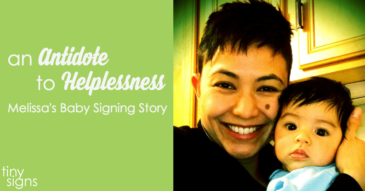 Melissa's Baby Signing Story :: A Tiny Signs Member Spotlight