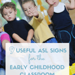 Learn 9 simple ASL signs that you can use every day as you move through your daily routines to get starting signing with your young learners.