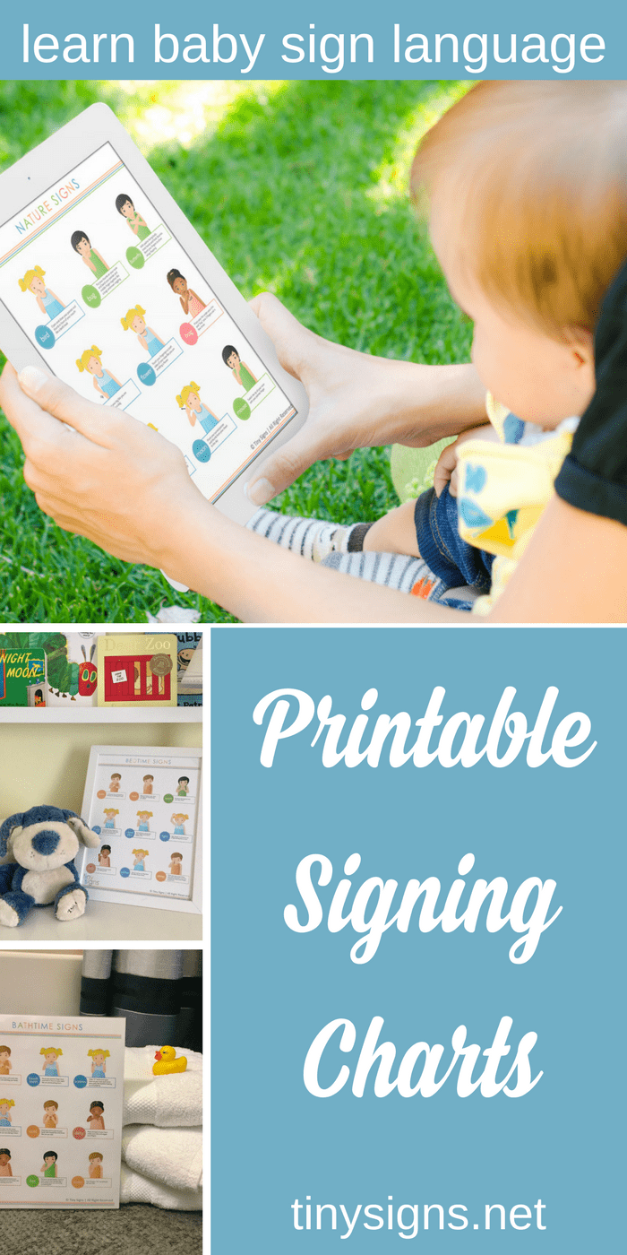 I created these beautiful printable charts for my students as a visual reminder to use signs throughout the day, and as a helpful reminder of how to do the signs. Now you can use them too! Print & post them around the house or view them on your ipad. Share them grandparents and other caregivers!