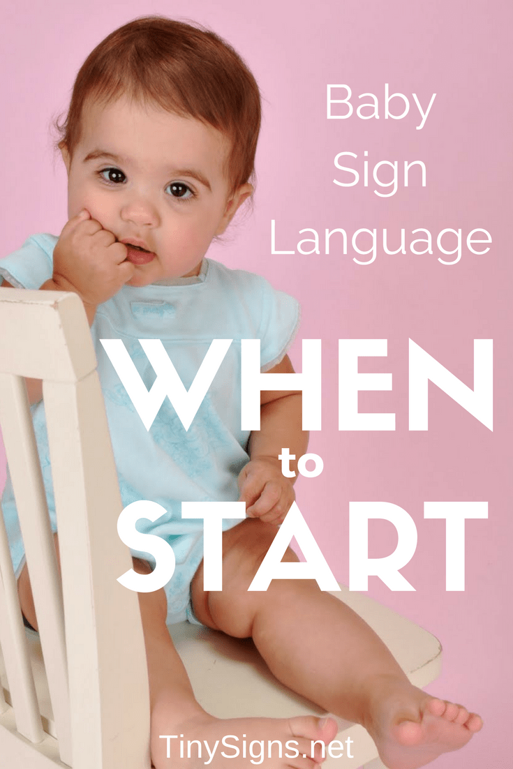 Is it too soon to start signing with your baby? Too late? Learn when to introduce baby sign language, when babies usually start signing, and what to expect depending on your baby's age and developmental stage.  baby sign language | when to start baby sign language | when to start baby signing