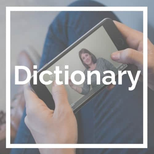Free baby sign language video dictionary