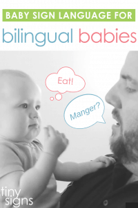 Will using baby sign language confuse your bilingual baby? Find out how signing works in families using more than one spoken language!